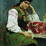 Ilya Repin - Portrait of Sophia. 1889