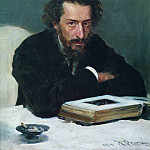 Ilya Repin - Portrait of the composer PI Blaramberga. 1884