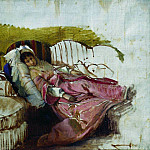 Ilya Repin - On the sofa. The first half of 1880
