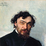 Portrait of the Artist Ivan P. Pohitonova. 1882, Ilya Repin