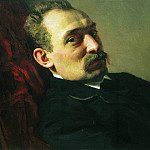 Portrait of the architect Philip Dmitrievich Hloboschina. 1868, Ilya Repin