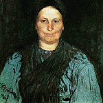Ilya Repin - Portrait of the artists mother, TS Repina. 1867