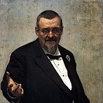 Portrait of a lawyer VD Spasovich. 1891, Ilya Repin