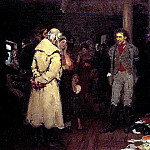 Ilya Repin - Propagandist Under Arrest. 1878