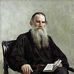 Ilya Repin - Portrait of the writer Leo Tolstoy. 1887