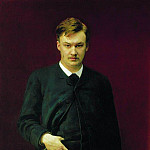 Portrait of the composer Alexander Glazunov. 1887, Ilya Repin