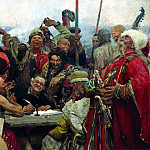 Ilya Repin - Zaporozhye Cossacks Writing a Letter to the Turkish Sultan. 1889-1896