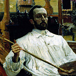 Portrait of the artist Kardovsky. 1896-1897, Ilya Repin
