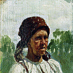 old woman, Ilya Repin