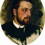 Ilya Repin - Portrait Chertkov. End 1880 - beginning 1890