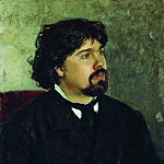 Portrait of the Artist VISurikov. 1875, Ilya Repin