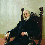 Ilya Repin - Portrait of Chairman Azov-Don Commercial Bank in St. Petersburg AB Nenttselya. 1908