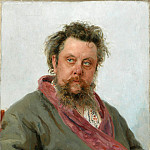 Portrait of the composer Mussorgsky. 1881, Ilya Repin