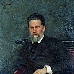 Portrait of the artist INKramskoy. 1882, Ilya Repin