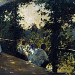 On the terrace. 1908, Ilya Repin