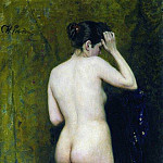 Ilya Repin - Nude model (from behind). 1895-1896
