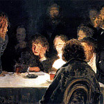 Ilya Repin - underworld (In light of the lamp). 1883