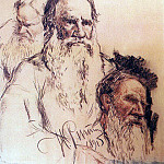 Studies of Leo Tolstoy. 1891, Ilya Repin