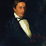 Portrait of Repin, musician, brother of the artist. 1876, Ilya Repin