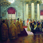 Ilya Repin - Wedding of Nicholas II and Grand Duchess Alexandra Feodorovna. 1894