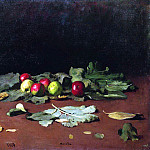 apples and leaves. 1879