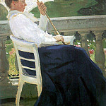 Ilya Repin - Portrait of the writer NB Nordman Severova. 1905