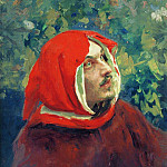 Portrait of Dante, Ilya Repin