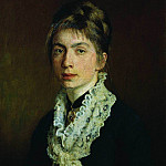 Portrait MP Shevtsova, wife of AA Shevtsov. 1876, Ilya Repin
