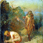 Ilya Repin - Diogenes and the boy. 1867