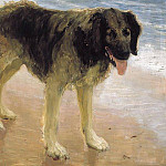 Mans best friend . 1908, Ilya Repin