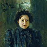 Ilya Repin - Portrait Repina, daughter of the artist. 1898