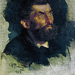 Head of a Man. 1885, Ilya Repin