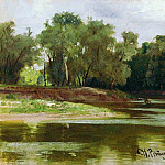 River Bank. 1876, Ilya Repin