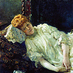 Ilya Repin - Portrait of pianist Countess Louise Mercy dArgenteau. 1890
