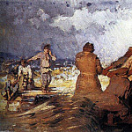 Ilya Repin - Storm on the Volga. 1870-1891