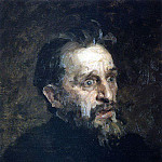 Mens head. 1883, Ilya Repin