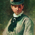 Ilya Repin - Portrait VA Repina, wife of the artist. 1876
