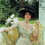 Ilya Repin - Portrait of Bella Highland. 1910