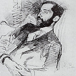 Portrait of Dmitry Merezhkovsky. Circa 1900, Ilya Repin