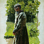 Old farmer. 1885, Ilya Repin
