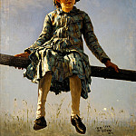 Ilya Repin - Dragonfly (Painter's daughter portrait) 1884