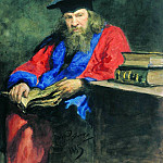 Portrait of Dmitry Mendeleev professor at Edinburgh University, Ilya Repin