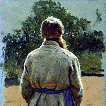 Ilya Repin - sergeant, from the back, lit by the sun. 1885