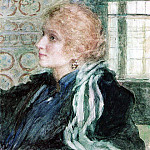 Ilya Repin - Portrait of Mary Klopushinoy. 1925
