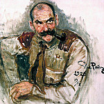 Ilya Repin - Portrait of the artist Gallen-Kallela. 1920