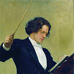 Ilya Repin - Portrait of the Composer Anton Rubinstein. 1887