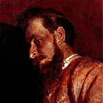 Ilya Repin - Portrait of VK Muench. 1884