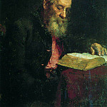 Ilya Repin - Portrait of the artists father, E. Repin. 1879