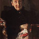 Portrait of LI Shestakova, sister of the composer Mikhail Glinka. 1899, Ilya Repin