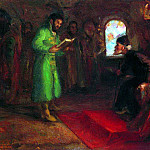 Boris Godunov with Ivan the Terrible, Ilya Repin